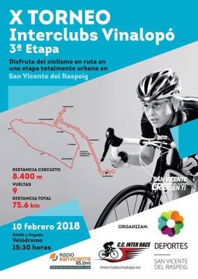 X INTERCLUBS vinalopó-3ªEtapa-Sant Vicent del Raspeig